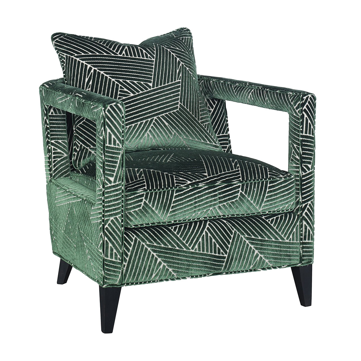 Geometric Green Chase Chair